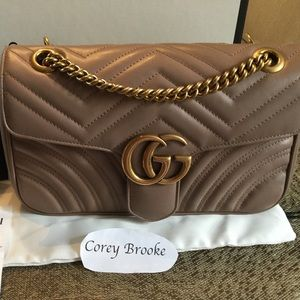 Gucci matelassé leather shoulder bag -  Beige